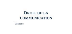 Droit de la Communication : Droits d'auteurs