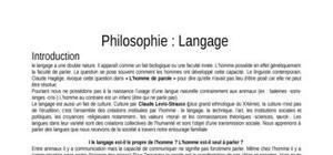 Philosophie : Le Langage