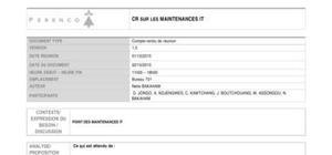 Rapport de maintenance