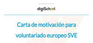 Carta de motivación para un voluntariado europeo SVE