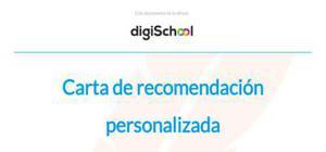 Carta de recomendación personalizada