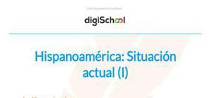 Hispanoamérica - Historia - 1 Bachillerato