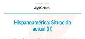 La situación actual de Hispanoamérica - Historia - 1 Bachillerato