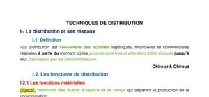 Techniques marketing de distribution