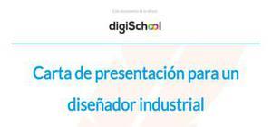 Carta de presentación para un diseñador industrial