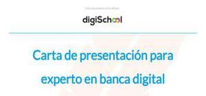 Carta de presentación para un experto en banca digital