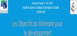 les objectifs millénaires pour le développement