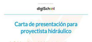Carta de presentación para proyectista hidráulico