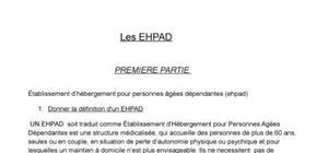 dossier sur l'EHPAD
