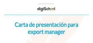 Carta de presentación para export manager