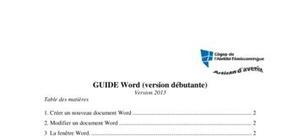 cours de Word 2013