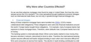 Exposé -Crise des subprimes