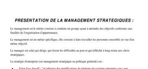 Prise des notes de Management
