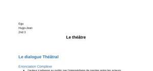Fiche Français : Théâtre