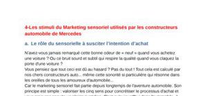 cours marketing sensorielle