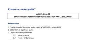 manuel qualité structures de formation et / ou d'évaluation