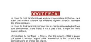 Cours Complet Droit Fiscal