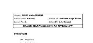 sales management in marketing