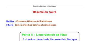 Les instruments de l'intervention étatique