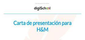 Carta de presentación para H&M