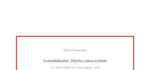 La mondialisation - Théories, enjeux et débats