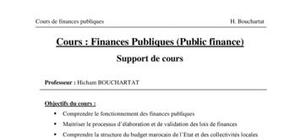 Finances Publiques (Public finance)