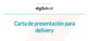 Carta de presentación para delivery