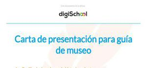 Carta de presentación para guía de museo