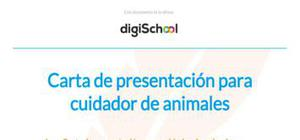 Carta de presentación para cuidador de animales