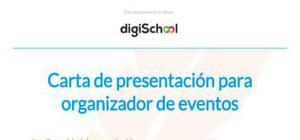 Carta de presentación para organizador de eventos