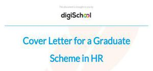 Cover letter for a Graduate Scheme in HR