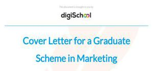 Cover letter for a Graduate Scheme in Marketing