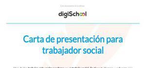 Carta de presentación para trabajador social