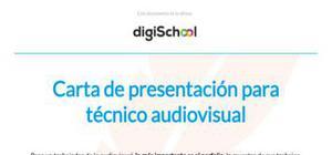 Carta de presentación para técnico audiovisual