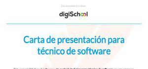 Carta de presentación para técnico de software
