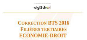 Corrigé Sujet BTS 2016 épreuve d'Eco Droit