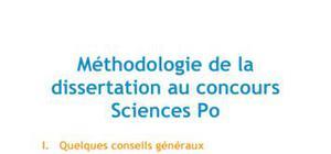 Méthodologie de la dissertation au concours Sciences Po