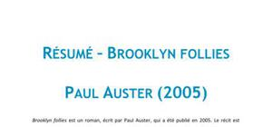 Brooklyn follies - Paul Auster