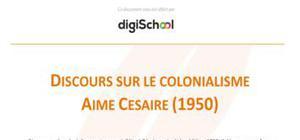 Discours sur le colonialisme - Aimé Césaire