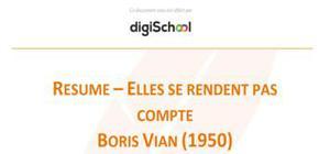 Elles se rendent pas compte - Boris Vian
