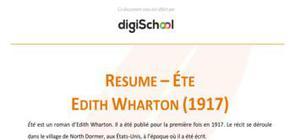 Eté - Edith Wharton