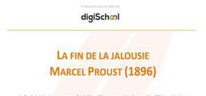 La fin de la jalousie - Marcel Proust