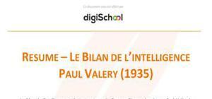 Le bilan de l'intelligence - Paul Valéry
