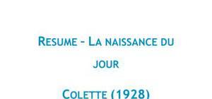 La naissance du jour - Colette