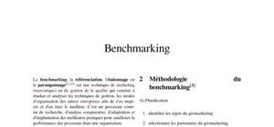 pratique du Benchmarking