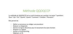 La méthode QQOQCCP