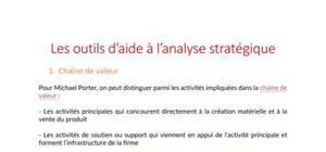 Les outils d'aide à l'analyse stratégique