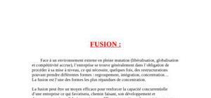 aspect juridique et fiscal de la fusion