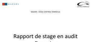 Rapport de stage en audit financier