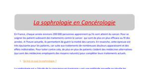 La sophrologie en Oncologie